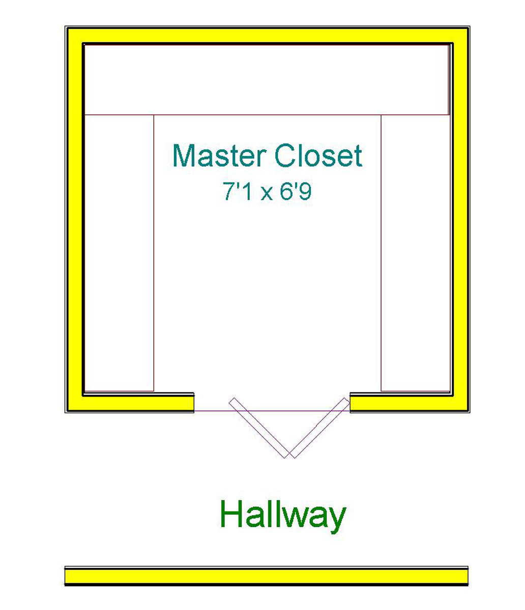 Vote in our closet door poll huebsch house chronicles Walk in closet measurements