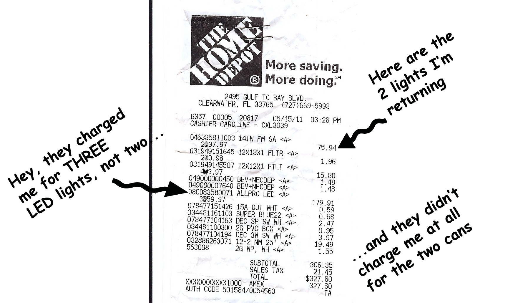 Home Depot Receipt Template | Business Plan Template