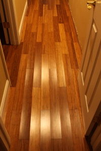 Do you think anyone would believe it if we told them it looked like this because it's actually handscraped flooring?